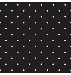 black polka dot background textured vector image vector image