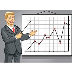 business man on presentation vector image vector image