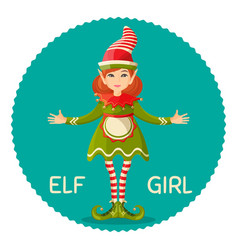 elf girl human-shaped supernatural female being in vector image vector image