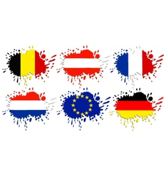 Flags of Europe as spots vector image vector image