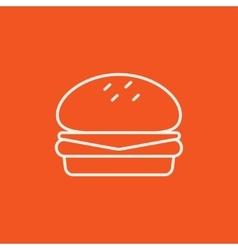 Hamburger line icon vector image vector image