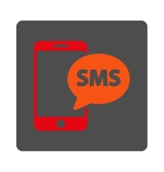 Phone SMS Rounded Square Button vector image vector image