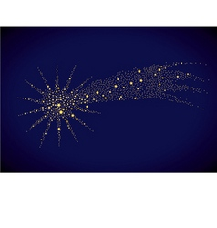 starry falling star vector image