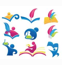 symbols of education vector image vector image