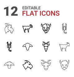 12 zodiac icons vector