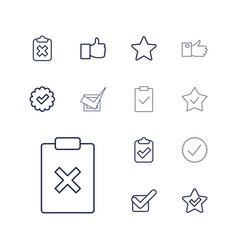 13 vote icons vector