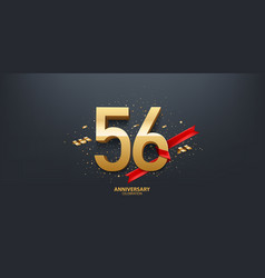 56th year anniversary background vector