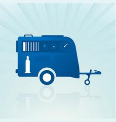 Auto trailer with compressor vector