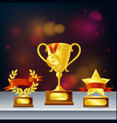 awards realistic composition vector image