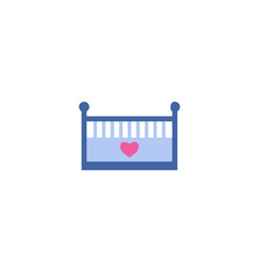 baby bed icon flat element of vector image