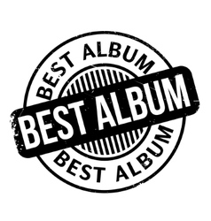 Best Album rubber stamp vector