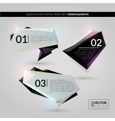 Black and white crystal frame set vector image