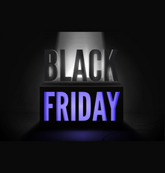 black friday total sale banner template vector image