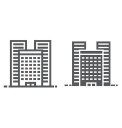buildings line and glyph icon real estate vector image