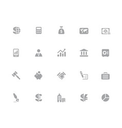 business finance icons 32 pixels icons white vector image