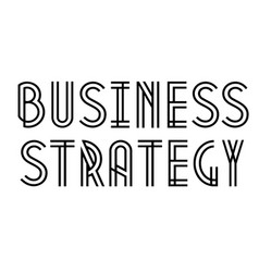 Business strategy stamp on white vector