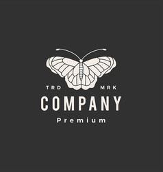 butterfly hipster vintage logo icon vector image