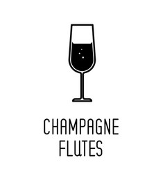 champagne glass line icon vector image