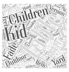 Childrens picnic table Word Cloud Concept vector