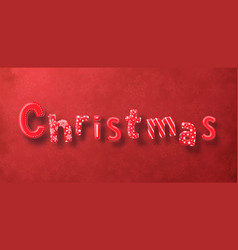 christmas decoration text on red background merry vector image