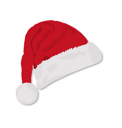 christmas santa hat on a white background whith vector image
