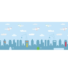 Cityscape cartoon with high buildings vector image