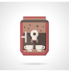 Coffee maker with cups flat icon vector image