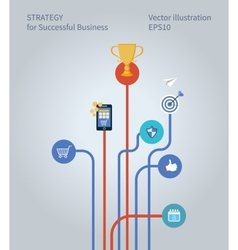 Concept for business strategy marketing research vector