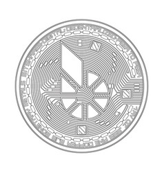 crypto currency bitshares black and white symbol vector image