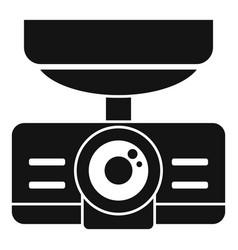 Dash cam recorder icon simple style vector
