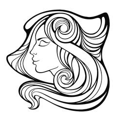 Decorative portrait of shaman beauty girl vector