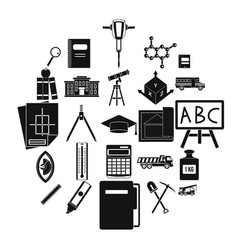 Denominator icons set simple style vector