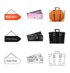 design airport and airplane symbol set vector image