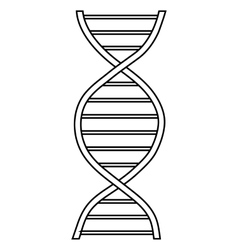 DNA sign icon outline style vector image