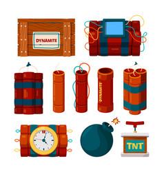 dynamite sticks risk dangerous items bomb vector image