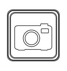 Figure emblem camera icon vector