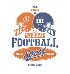Football helmet stylized vector
