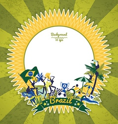 Frame with traditional Brazilian theme vector