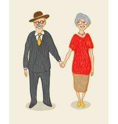 grandmother and grandfather vector image vector image