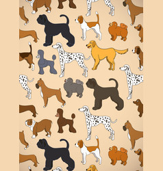 Greeting card with unusual pattern with cute vector