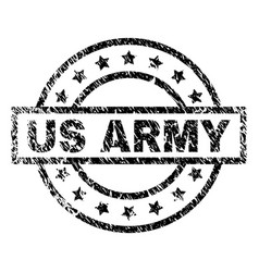 Grunge textured us army stamp seal vector