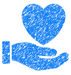 heart charity grunge icon vector image