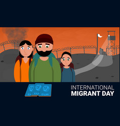homeless international migrant day concept banner vector image