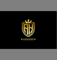 Initial ak elegant luxury monogram logo or badge vector