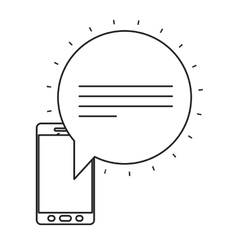 Isolated bubble and smartphone design vector