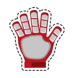 Isolated glove of soccer sport design vector