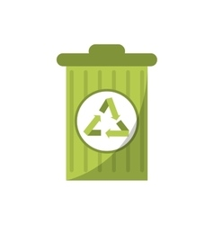 Isolated trash with recycle design vector image