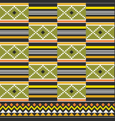 Kente geometric seamless pattern tribal vector