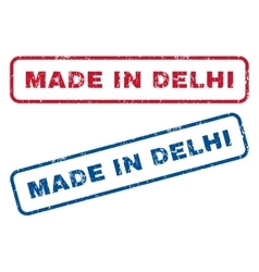 Made In Delhi Rubber Stamps vector