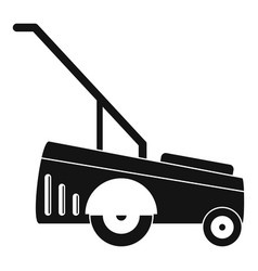 Motor grass cutter icon simple style vector